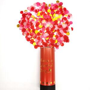Metallic Rose Gold Confetti Party Popper Cannons Handheld Firework Wedding Fu BL