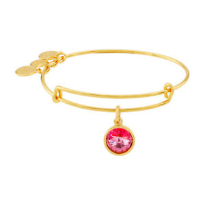 Alex And Ani October Birthstone Gold Expandable Bangle A09EB249G