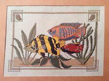 Tropical Fish counted cross stitch magazine pattern, fabric & floss lot