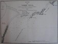 ANSE DE TORRE VIEJA,1862, GAUTTIER, PLANS PORTS RADES MER MEDITERRANEE