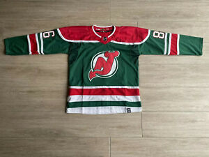 New Jersey Devils Jersey Size Large Green & Red #86 #Hughes
