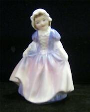 Royal Doulton figurine DINKY DO hand painted girl pink/ blue  dress