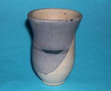 Studio Pottery - Attractive Abstract Design Stoneware Matt Coarse Glaze Vase.