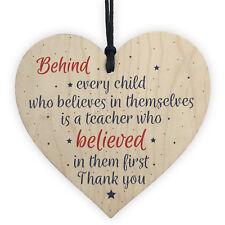 Handmade Wood Heart Gift For Teacher Tutor Mentor Leaving Present Thank You Gift
