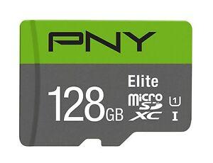 128GB PNY Class 10 MicroSDXC 85MB/sec UHS-I Memory Card