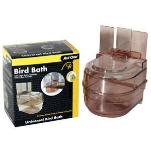 Avi One Universal Bird Bath External Hook On Budgie Finch Canary Conure
