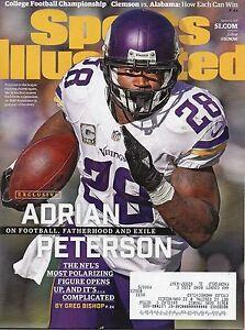 ADRIAN PETERSON Sports Illustrated MINNESOTA Vikings VIKES Magazine 1/11/16