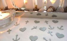 Tischdeko Glaube Liebe Hoffnung silber Kommunion Taufe Konfirmation Hochzeit