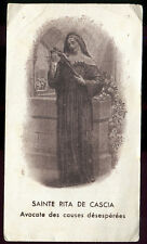 ANTIQUE HOLY CARD OF ST RITA OF CASCIA