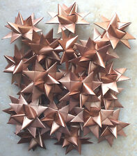 Paper Stars, Handmade, 24, Finished 3D Stars (Moravian Froebel) Copper Sheen 3 ""