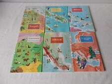 Job Lot of American Geographical Society Around the World Sticker Books 1968/9
