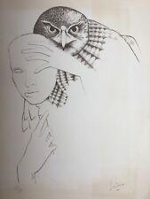 Daniel SCIORA né en 1945.Derrière le masque.Lithographie.Signée.48/50.65x48.