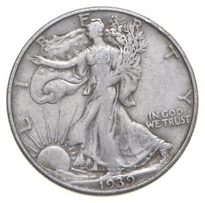 1939-D Walking Liberty 90% Silver US Half Dollar *519