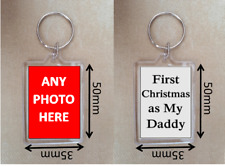 Personalised 1st Christmas Gifts for Dad First Christmas as My Daddy Keyring