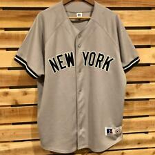 VTG Gray Russell Athletic New York Yankees Stitch Sewn Baseball Jersey L