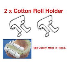 Lot X 2 Cotton Roll Metal Holder Fixation Of Rolls Dental Procedures Clip