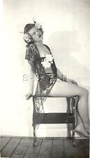 Org Vintage 1930s-50s Amateur Semi Nude Pinup RP- Hispanic Woman- Lingerie- Legs