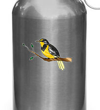 "Clr:Wb - Western Meadowlark Bird -Vinyl Water Bottle Decal ©Yydc 3.75""w x 2.75""h"