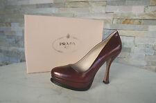 lusso Prada tg. 36,5 Tacchi A Spillo Con Plateau scarpe 1IP202 rosso nuovo