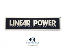 SMALL LINEAR POWER AMPLIFIER ALUMINUM LOGO NAME PLATE ~ RARE OLD SCHOOL ITEM!