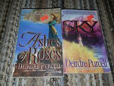 Lot of 2 Deirdre Purcell paperbacks, Sky, Ashes of Roses