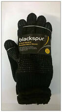 Black Thermal Nylon General Protective Work Gloves Rubber Safety Grip 5 Pairs UK