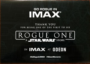 Star Wars Rogue One Imax at Odeon Glossy Promotional Fold-out Card