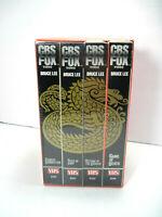 Bruce Lee 4 Tape VHS Box Set CBS Fox Game Death Return Dragon Fists Fury Chinese