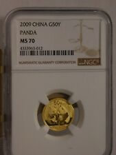 2009 China Gold Panda 50 Yuan NGC  MS 70
