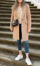 Zara Camel Masculine Coat With Pocket Size M, BNWT