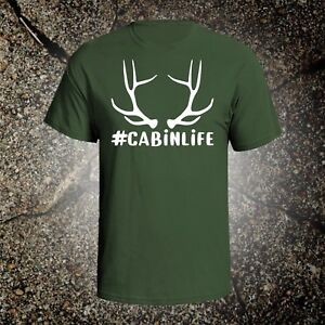 Cabin Life hunting vintage style graphic t shirt tee browning mossberg camping