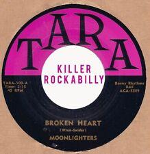 ROCKABILLY REPRO: THE MOONLIGHTERS - Broken Heart/Rock-A-Bayou Baby TARA