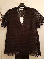 Sandro § Superbe blouse dentelle/guipure noire Alys§ T3=38/40 § NEUVE+Etiq+sac !