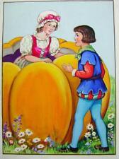 CHILDRENS NURSERY RHYMES PETER PETER PUMPKIN EATER  ELEANOR ABBOTT W/COL 1930S