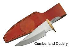 "Mirror Polished Knife Making Blade Blank & Leather Sheath  5"" blade"