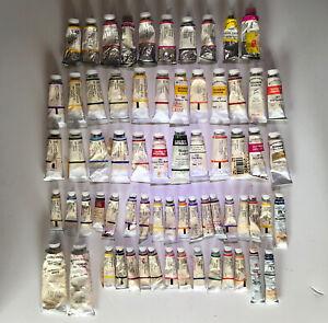 Winsor & Newton Watercolor Paint Total: 67 tubes. 31-5m. 34-14m  2 larger white