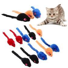 10pcs/Lot Colorful Fur False Mouse Pet Kitten Cat Toy Mini Funny Playing  A#S