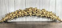 "37"" SYROCO Gold Fleur de lis Garland Swag Wall Hanging 4762 Bed Crown"