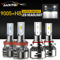 4X 9005 + H8 H11 H9 Combo LED Headlight High Low High Beam Light Kit Bulbs White