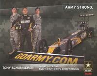 2007 Tony Schumacher U.S. Army Top Fuel NHRA postcard