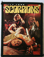 SCORPIONS Original Vintage 1980`s Photo Card Patch not lp shirt cd badge