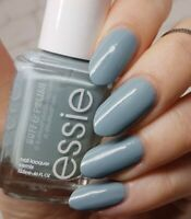 Essie PARKA PERFECT Muted Light Blue Gray Shimmer Nail Polish Lacquer .46oz 855