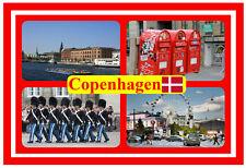 COPENHAGEN, DENMARK - SOUVENIR NOVELTY FRIDGE MAGNET - FLAGS / SIGHTS - NEW GIFT