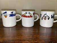 Disney Minnie, Donald Duck, Goofy Espresso Coffee Mini Mug