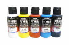 Nail Art Airbrush Paint Set,  5 x Main Primary colours large 60ml bottles