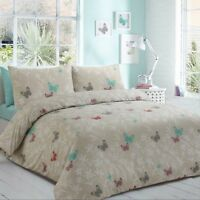 Print Duvet Cover Set Butterfly 100% Egyptian Cotton Bedding Sets All UK Sizes