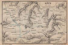 Il Giappone. kofu. MURRAY 1901 VECCHIO ANTICO VINTAGE MAPPA piano Grafico