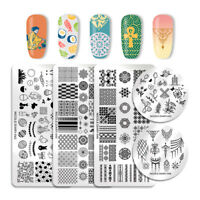 NICOLE DIARY Nail Art Stamping Plates Castle Geometry  Image Templates