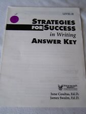 Steck-Vaughn Strategies for Success in Writing Level H Answer Key