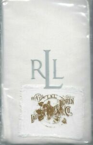 Ralph Lauren University White Denim Euro Sham Gold RL Logo New 1st Quality